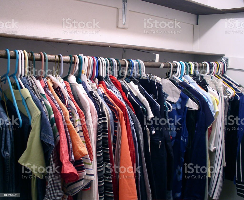 Colorful Clothes Closet royalty-free stock photo