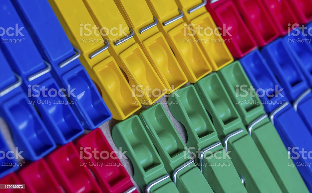 colorful clothespins royalty-free stock photo