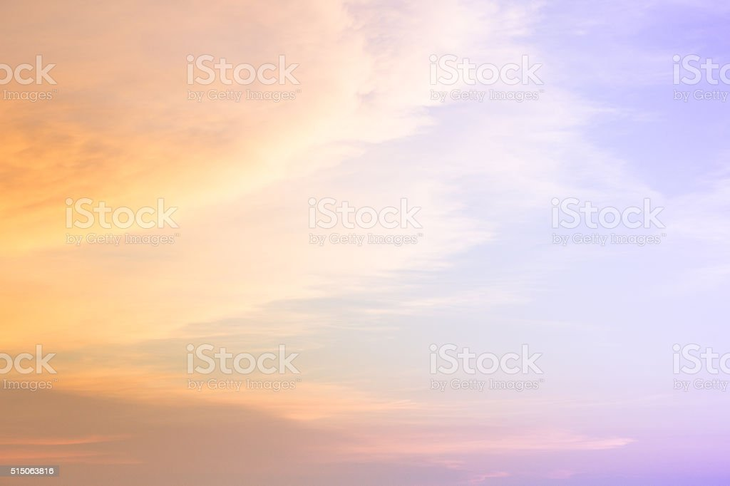 colorful cloud during sunset stock photo