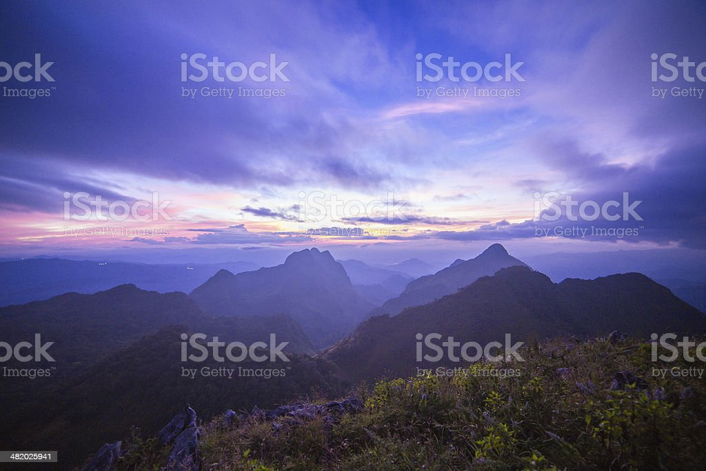 Colorful Clouds at Dawn stock photo