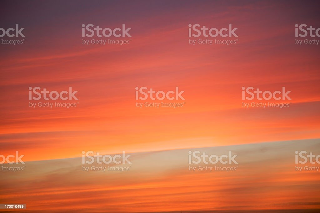 Colorful clouds at sunset royalty-free stock photo