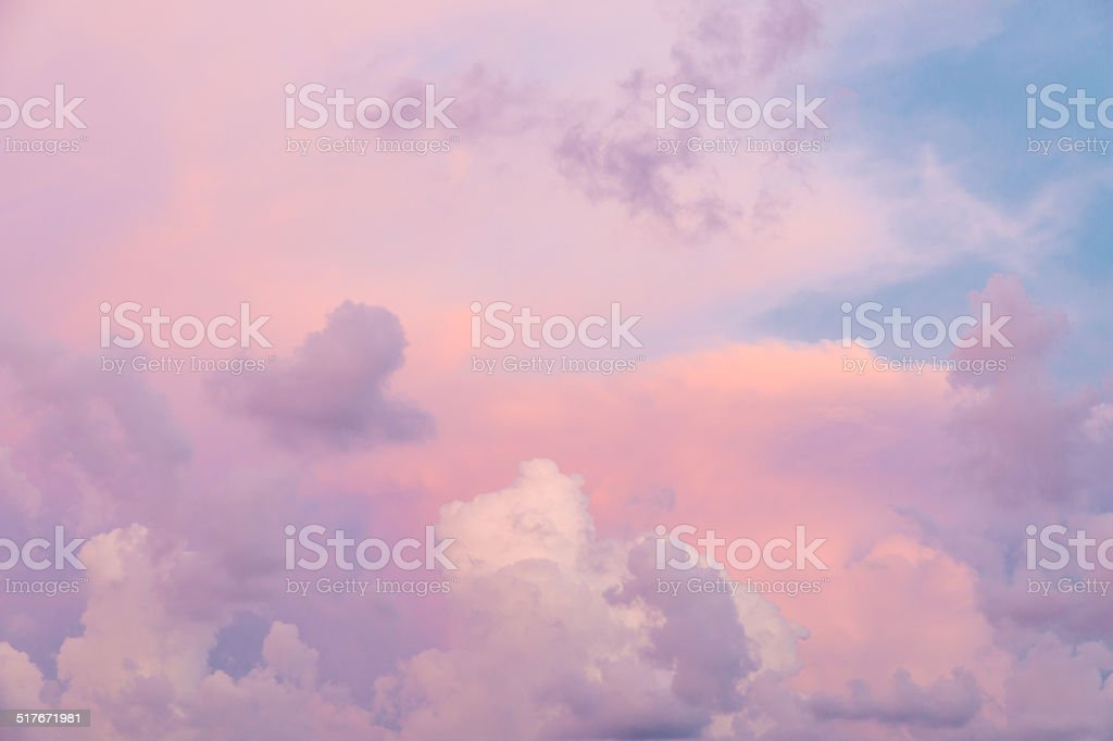 Colorful clouds stock photo