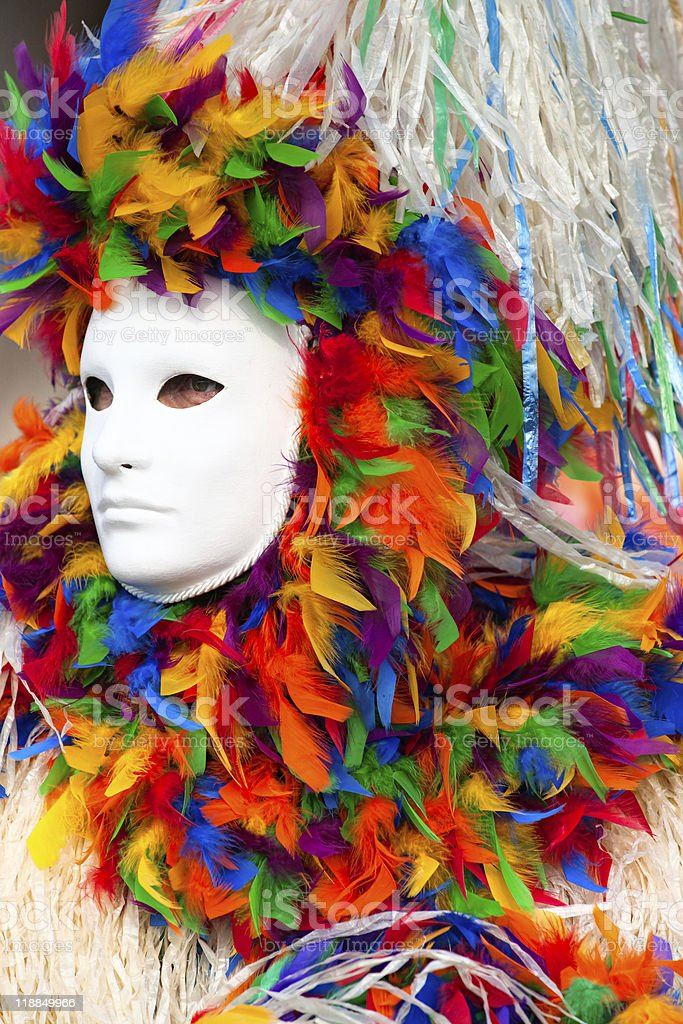Colorful clown carnival mask, Venice. royalty-free stock photo