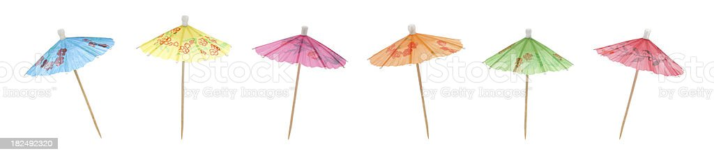 Colorful Cocktail Umbrellas stock photo
