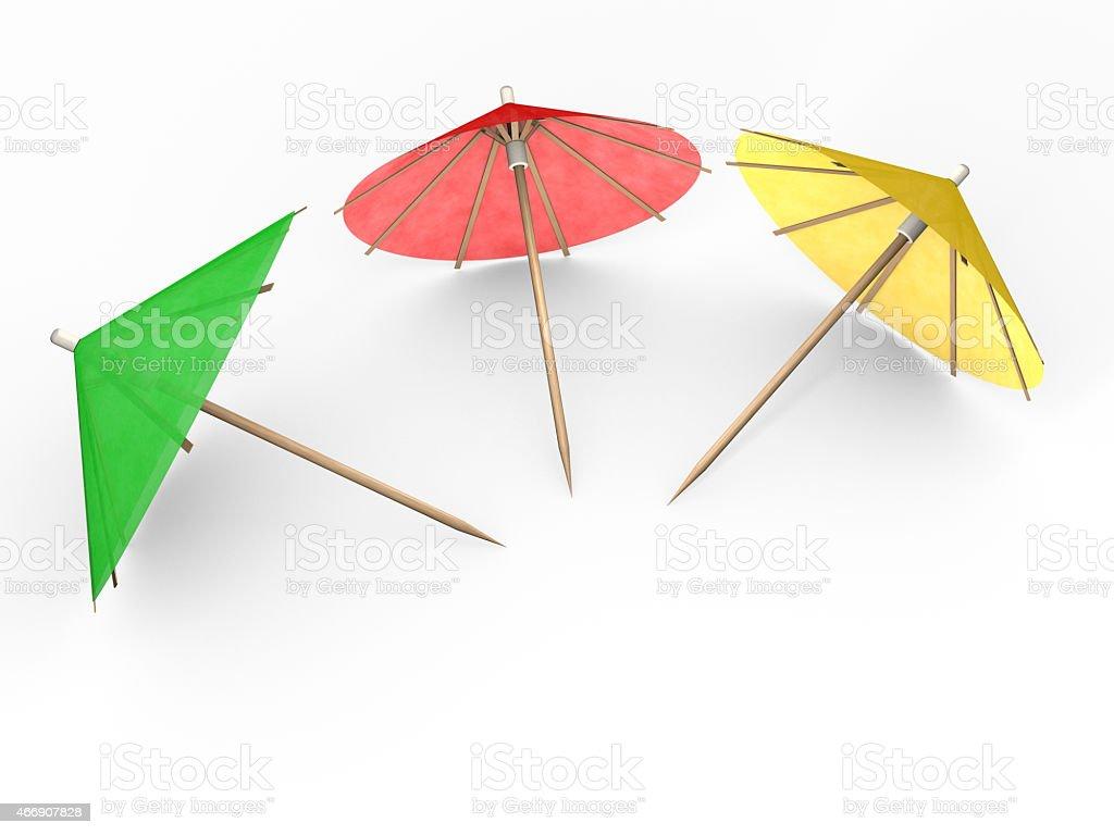 Colorful cocktail umbrellas stock photo