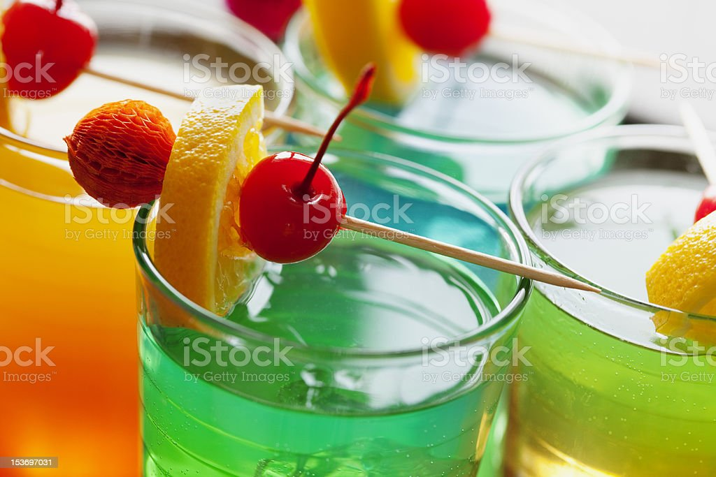 colorful cocktails stock photo