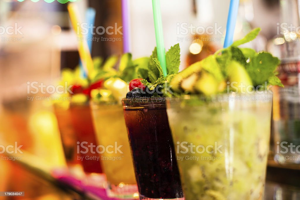 Colorful cocktails royalty-free stock photo