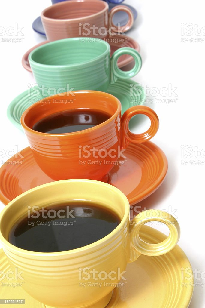 Colorful Coffee Cups (series) stock photo