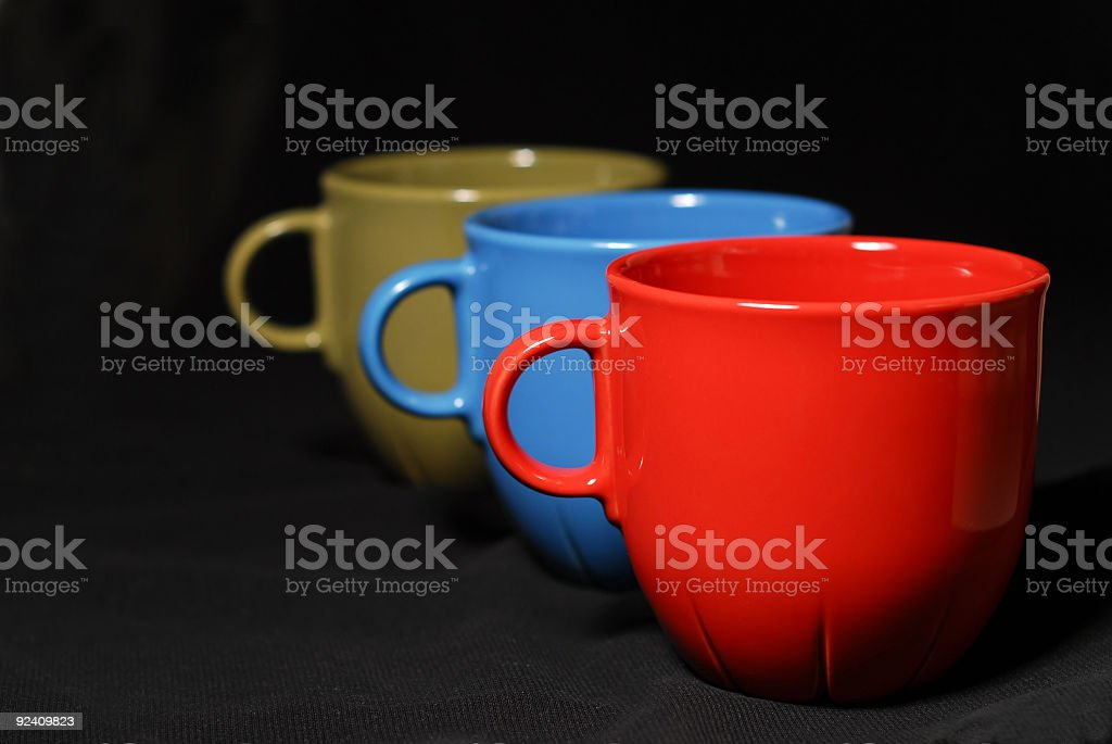 Colorful coffee cups royalty-free stock photo