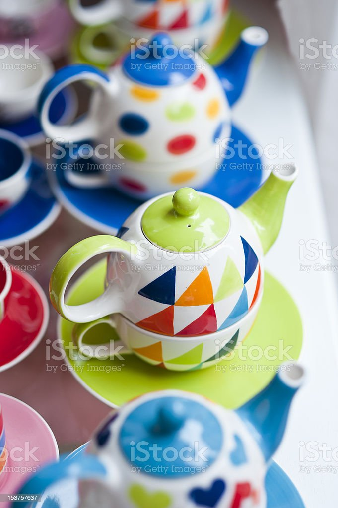 Colorful coffee jar royalty-free stock photo