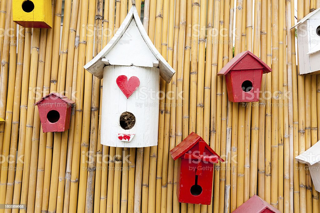 Colorful collection of birdhouses royalty-free stock photo