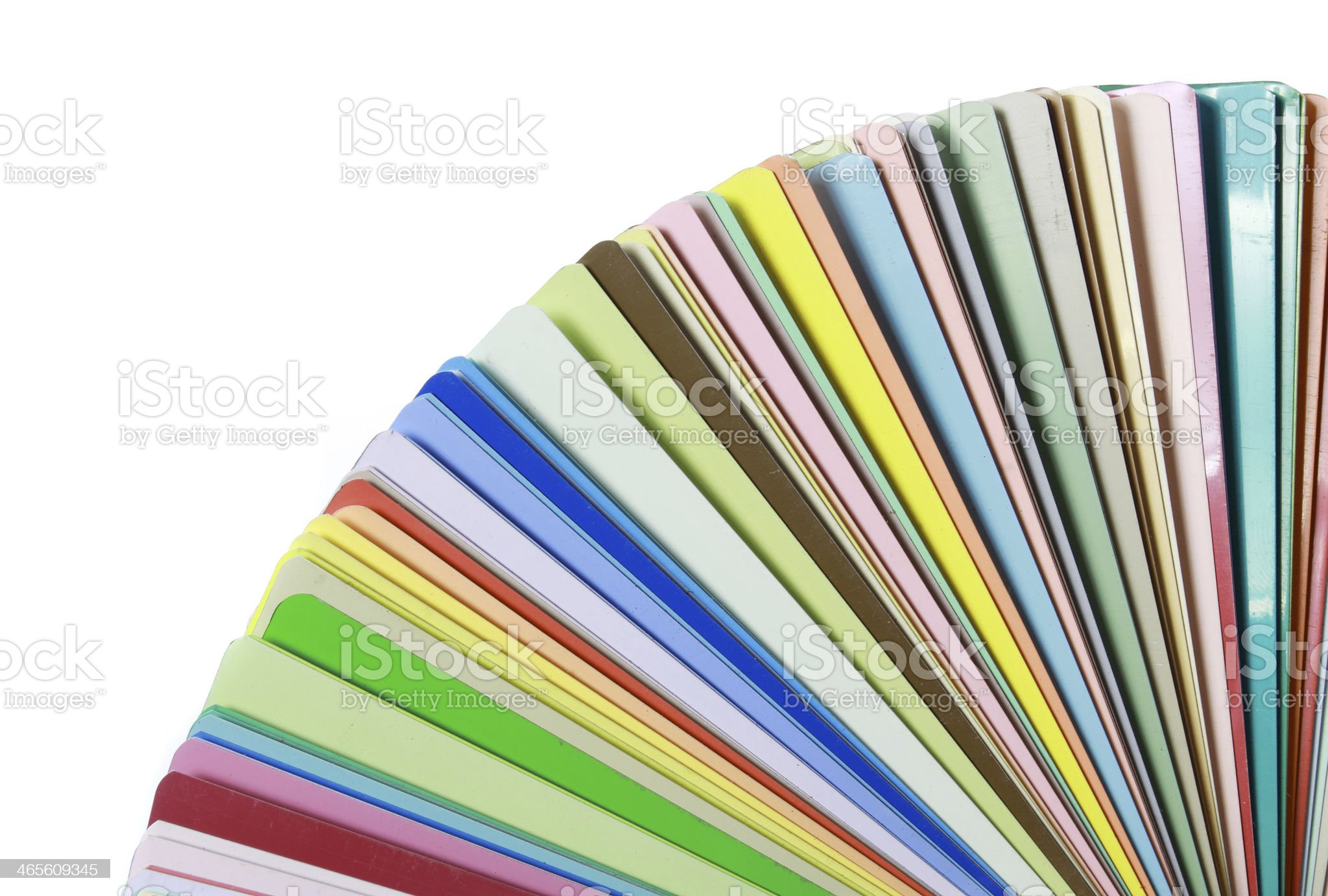 Colorful color guide samples on white background royalty-free stock photo