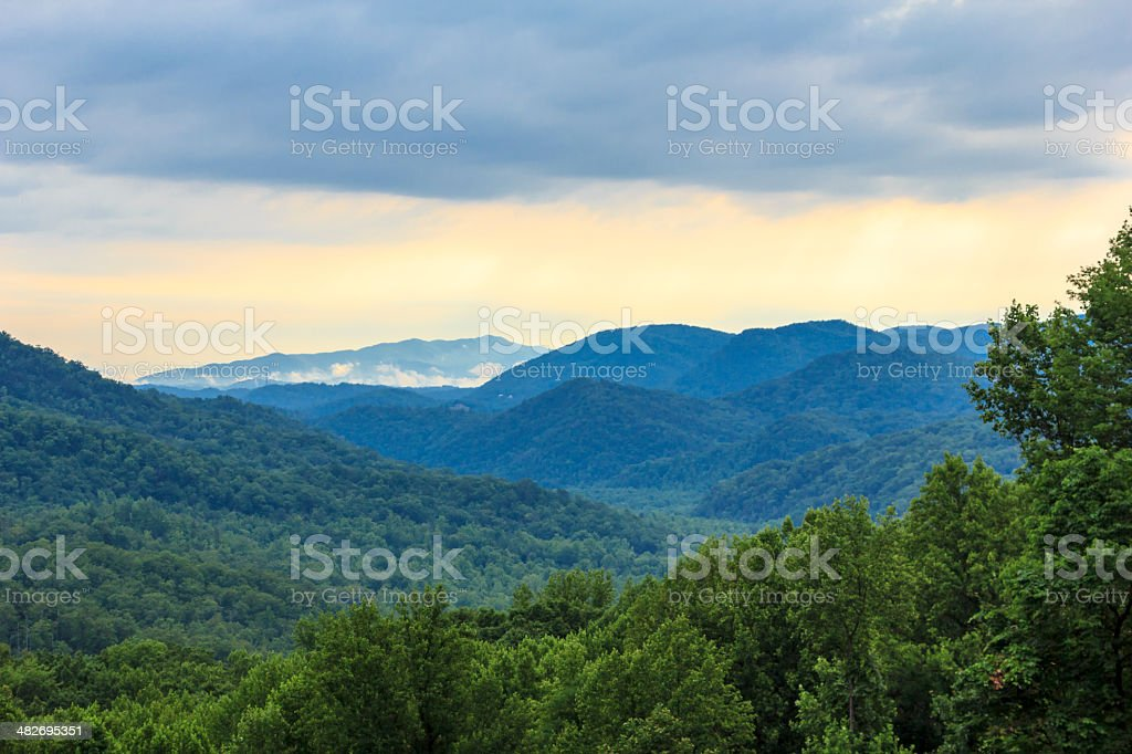 Colorful Color Tones of the Great Smoky Mountains stock photo