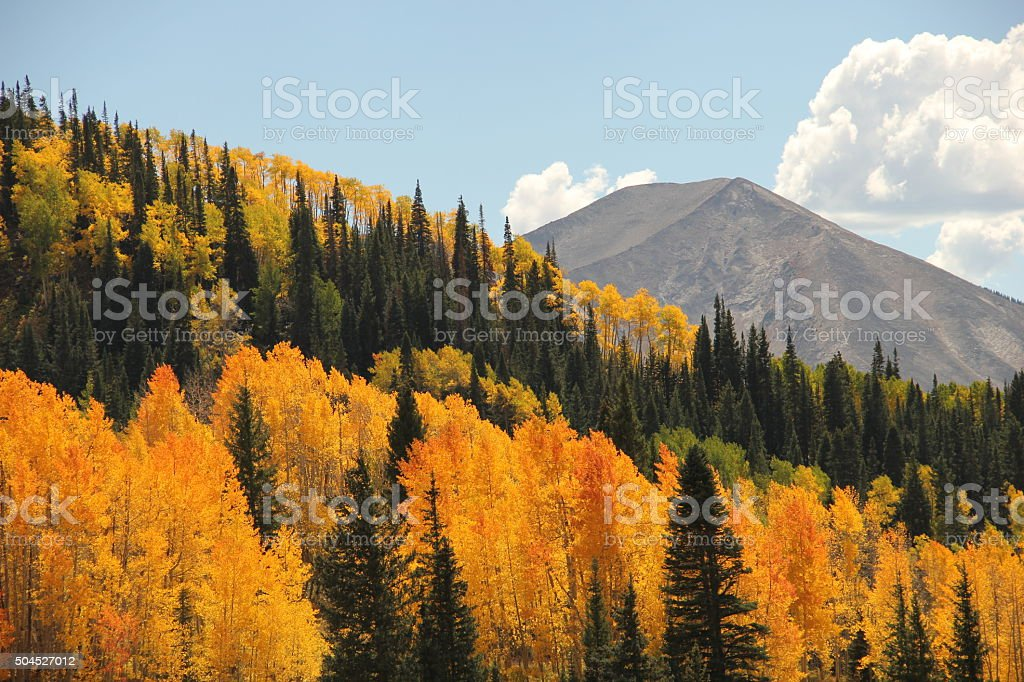 Colorful Colorado Autumn Mountains stock photo
