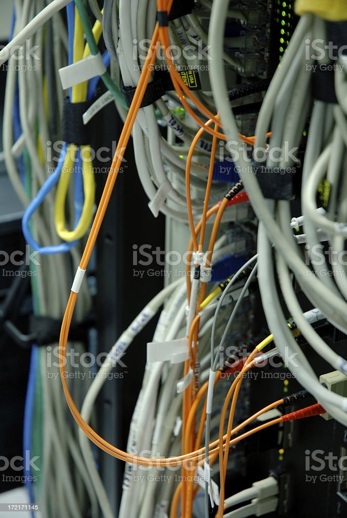 Colorful Communication Wires royalty-free stock photo