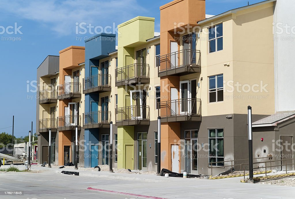 Colorful Condominium Construction royalty-free stock photo