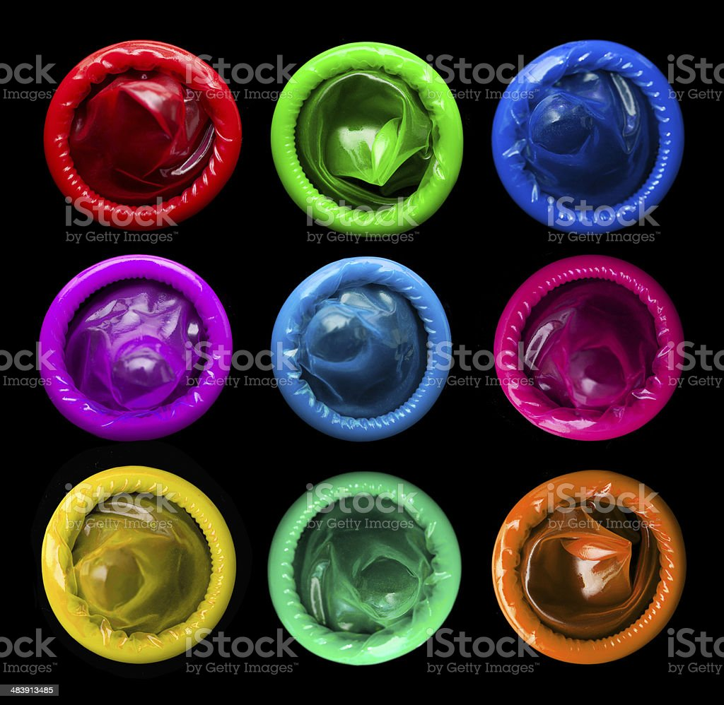 Colorful condoms royalty-free stock photo