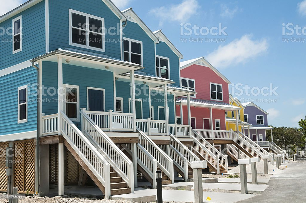 Colorful Condos stock photo