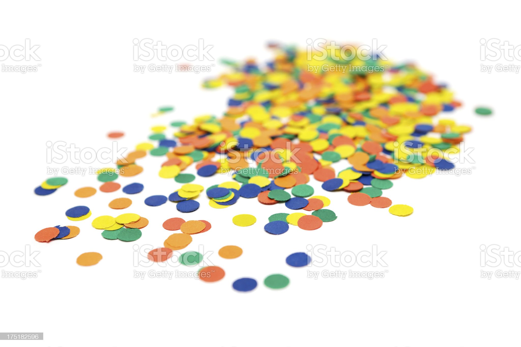 Colorful Confetti royalty-free stock photo