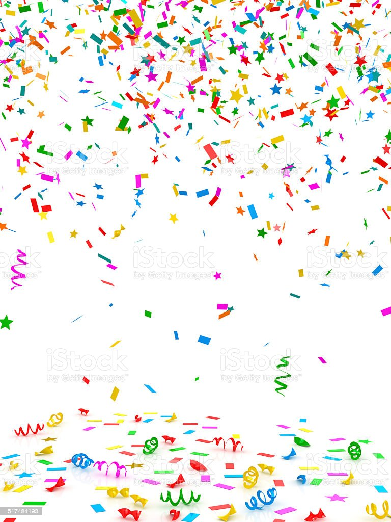 Colorful confetti stock photo