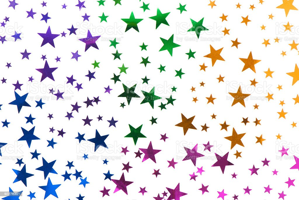 Colorful Confetti Stars royalty-free stock photo