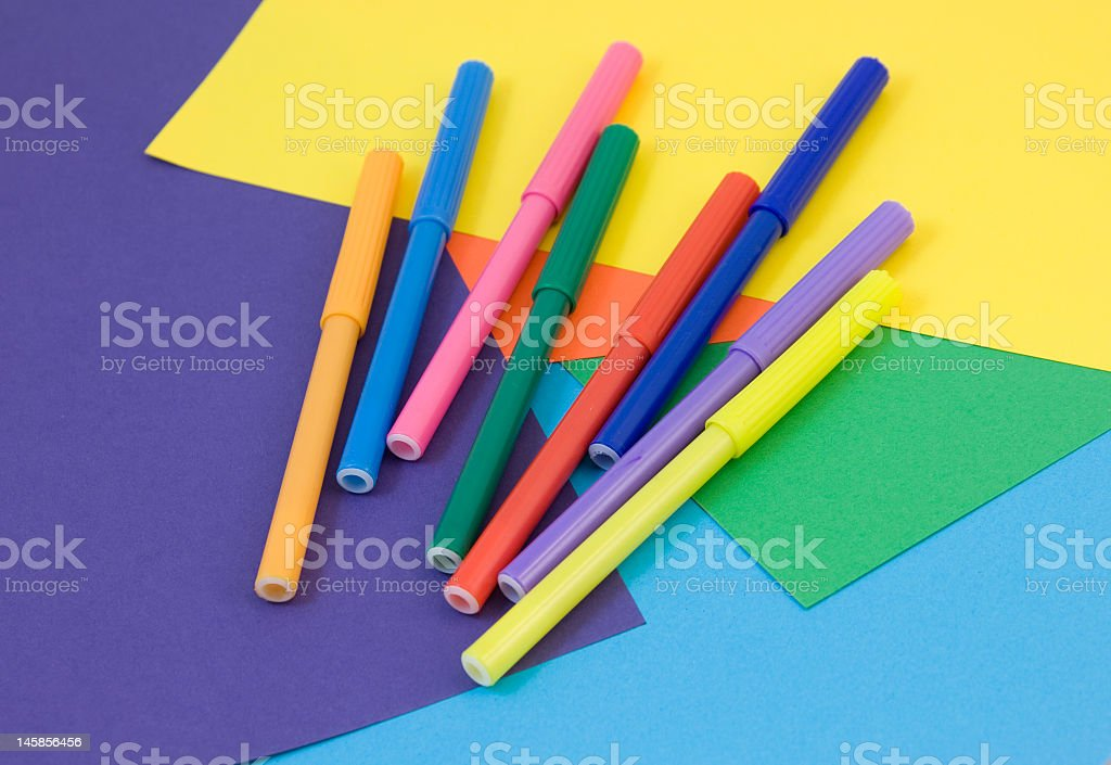 Colorful Crafting stock photo