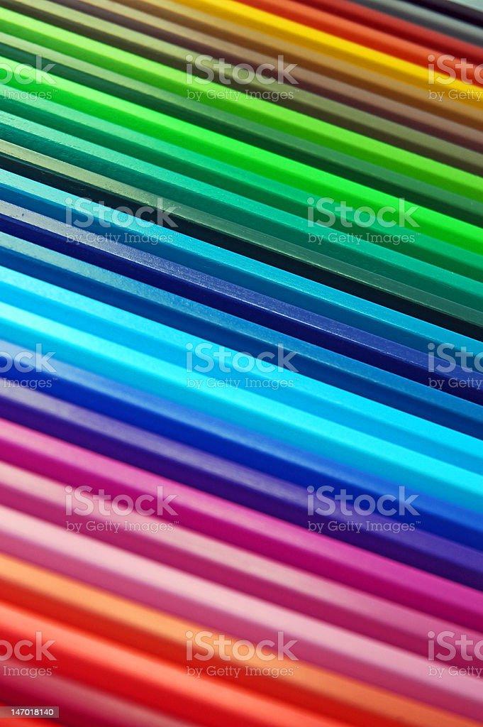 Colorful crayon rainbow royalty-free stock photo