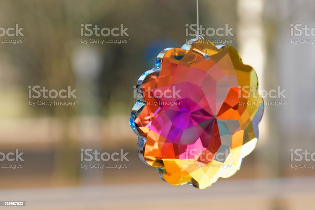 Colorful crystal stock photo