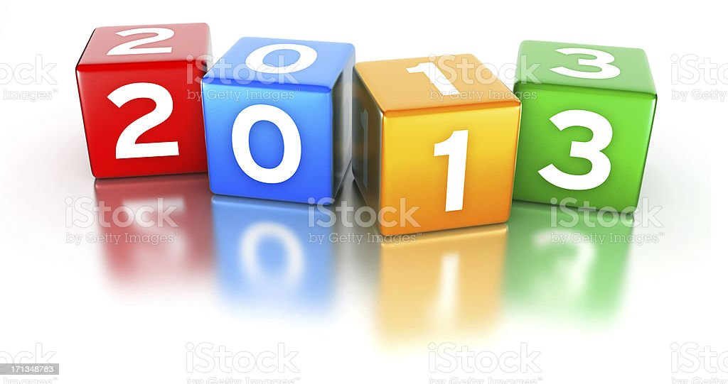 Colorful cubes 2013 royalty-free stock photo