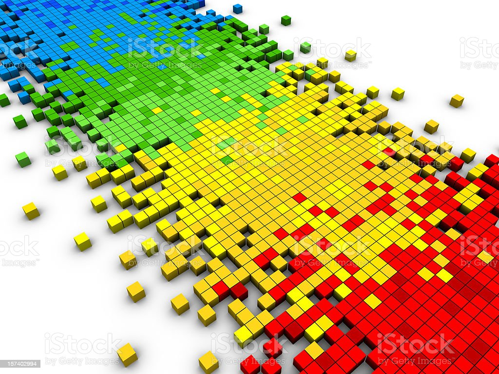 Colorful Cubes royalty-free stock photo