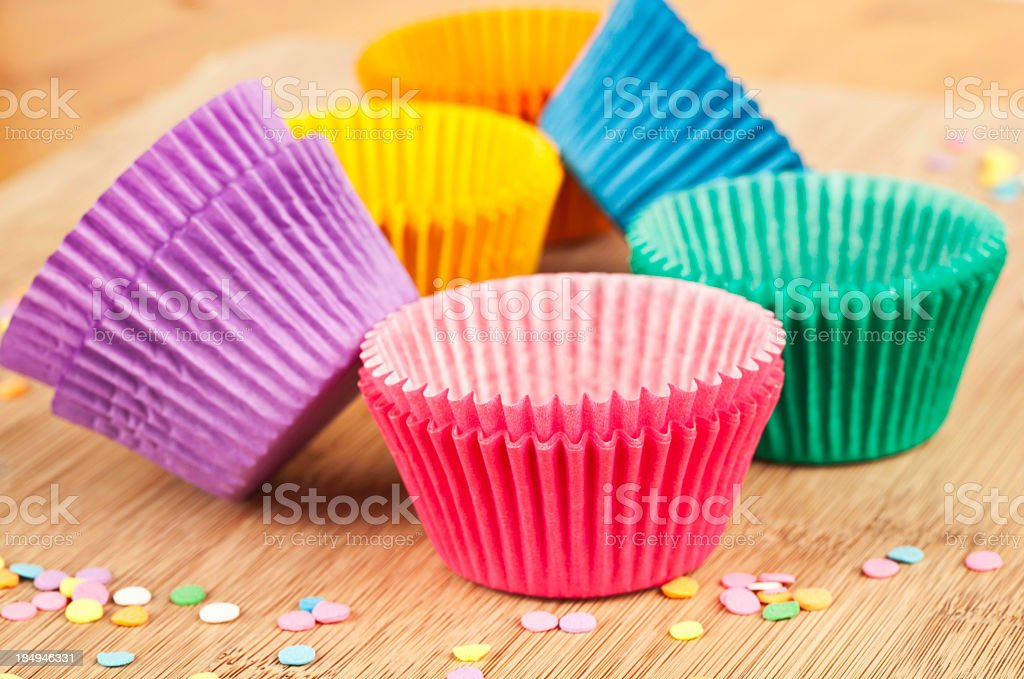 Colorful Cupcake Cases stock photo