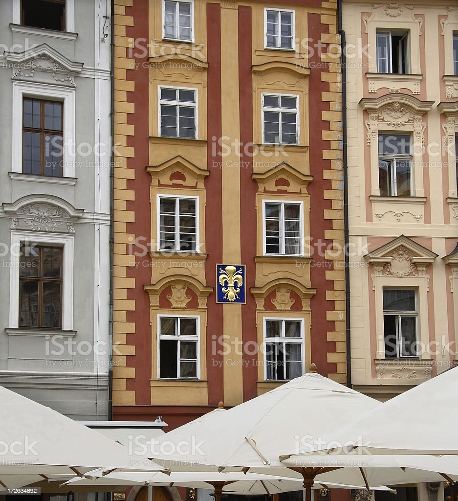 Colorful Czech Buildings royalty-free stock photo
