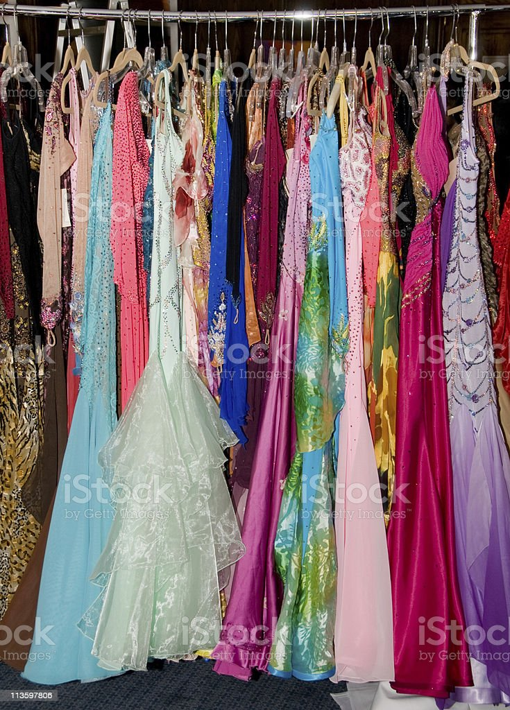 Colorful dance dresses royalty-free stock photo
