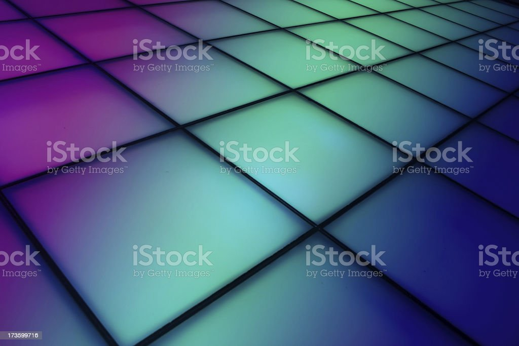 Colorful dance floor background stock photo