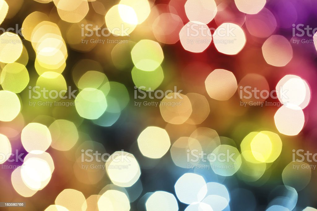 Colorful Defocused Lights royalty-free stock photo
