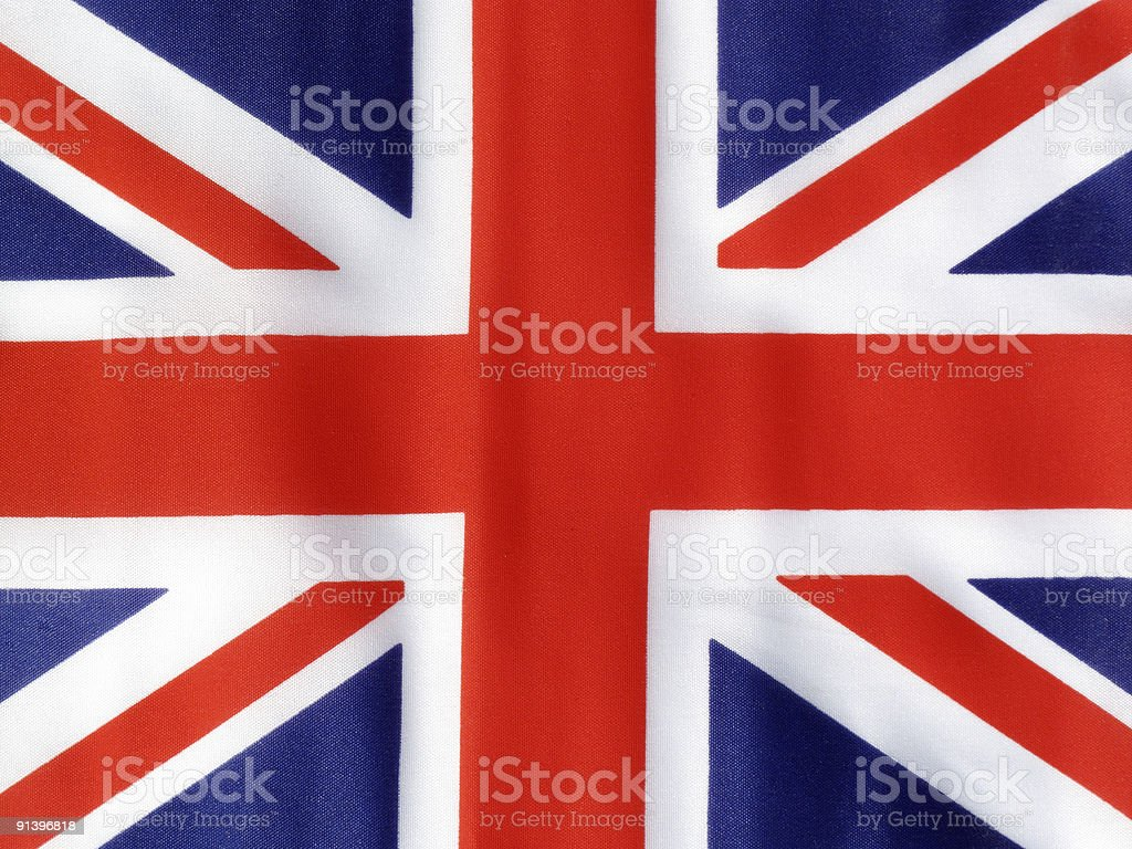 Colorful design of the Union Jack flag royalty-free stock photo