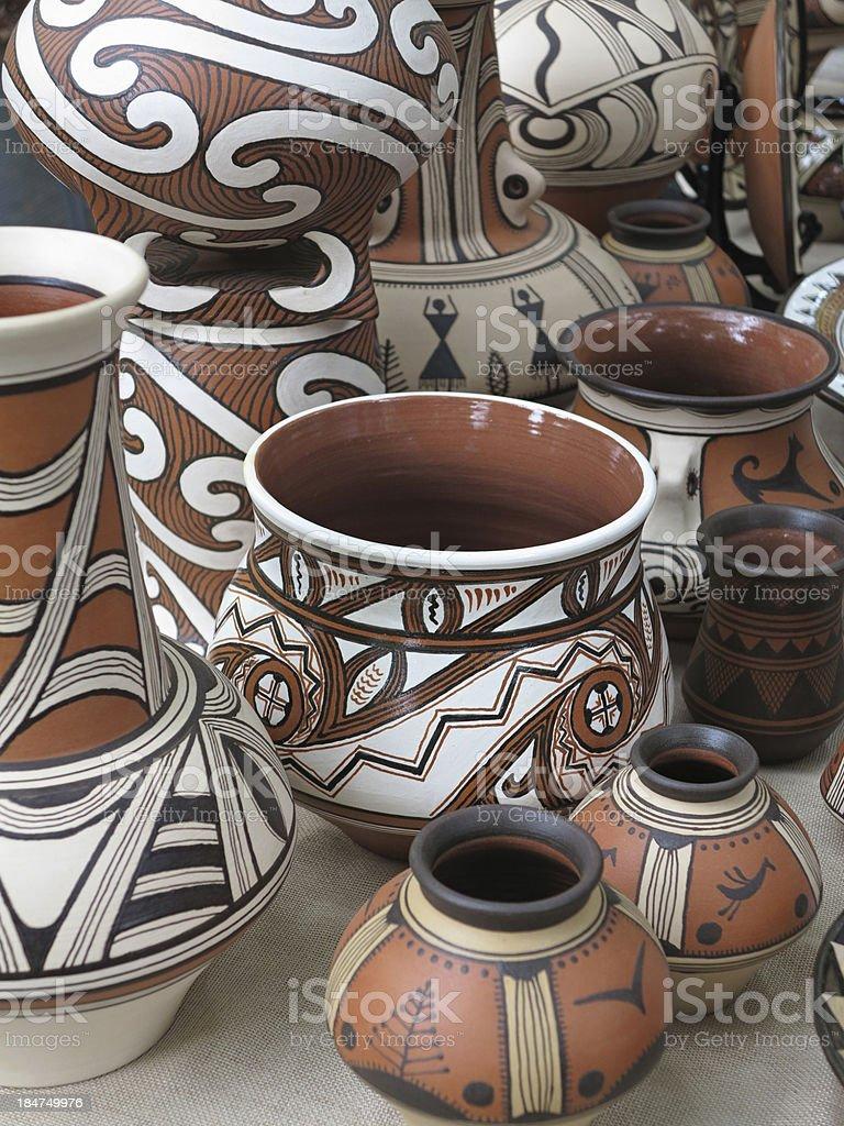 Colorido desenhado Barro Barro de cerâmica, n.e. foto de stock royalty-free