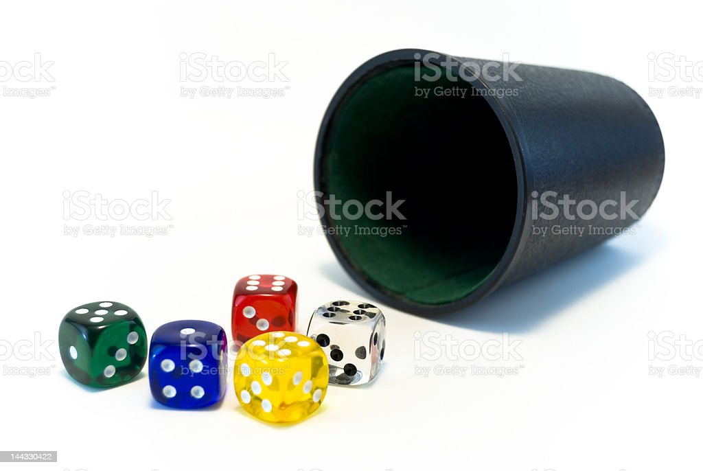 Colorful dice stock photo