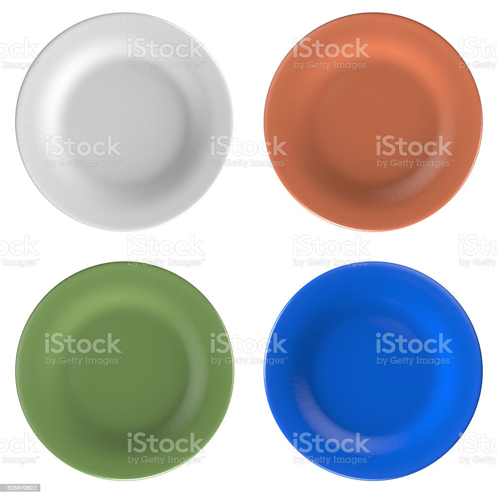 colorful dishes stock photo