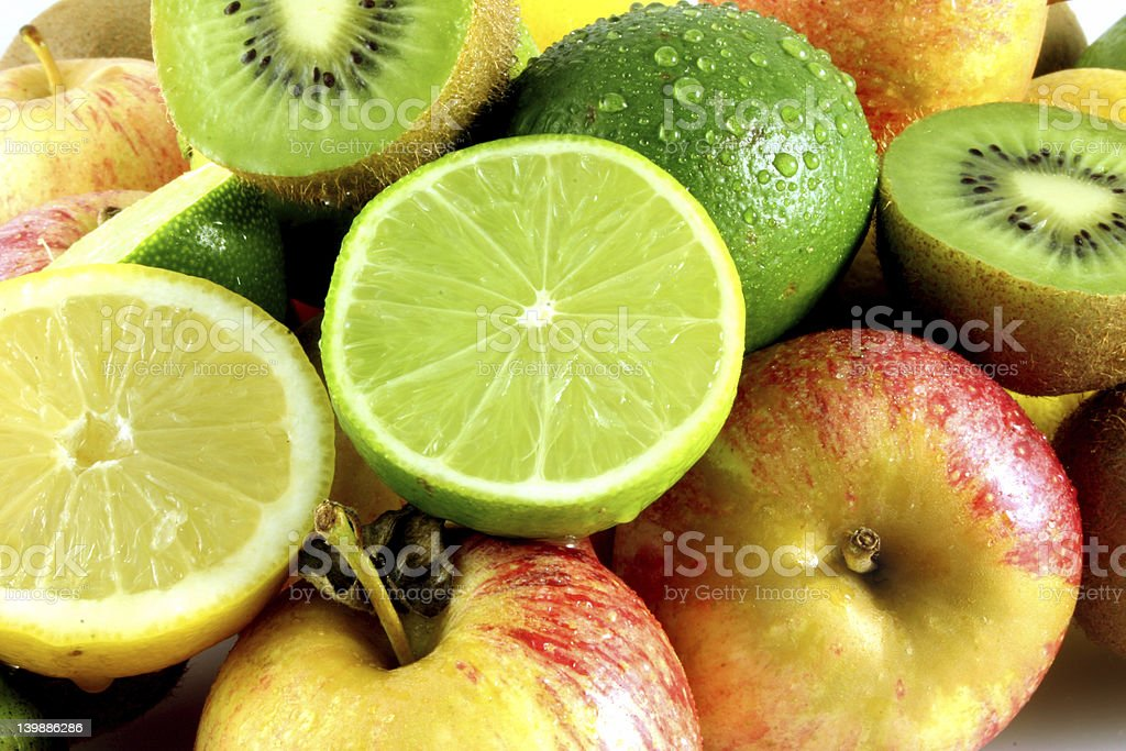 Colorful Display of Fresh Fruit stock photo