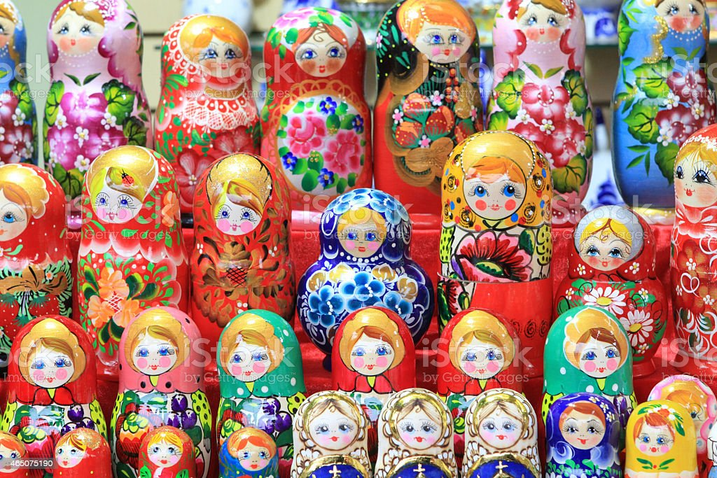 colorful dolls stock photo