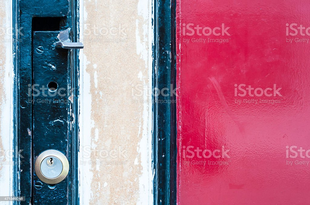 Colorful door look detail stock photo