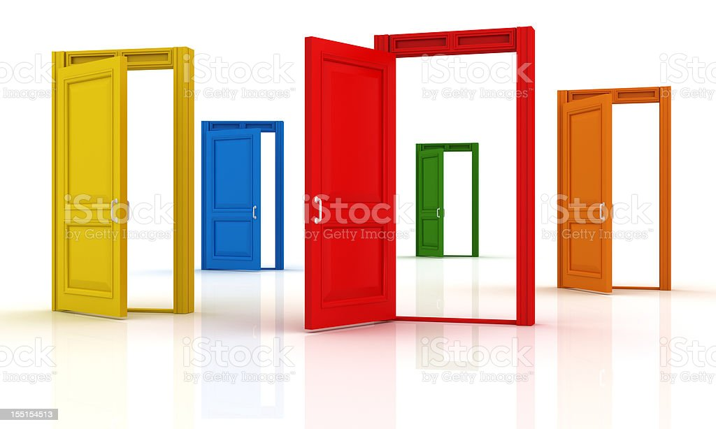Colorful Doors royalty-free stock photo