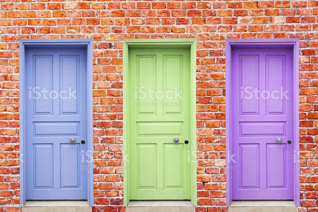 Colorful Doors stock photo