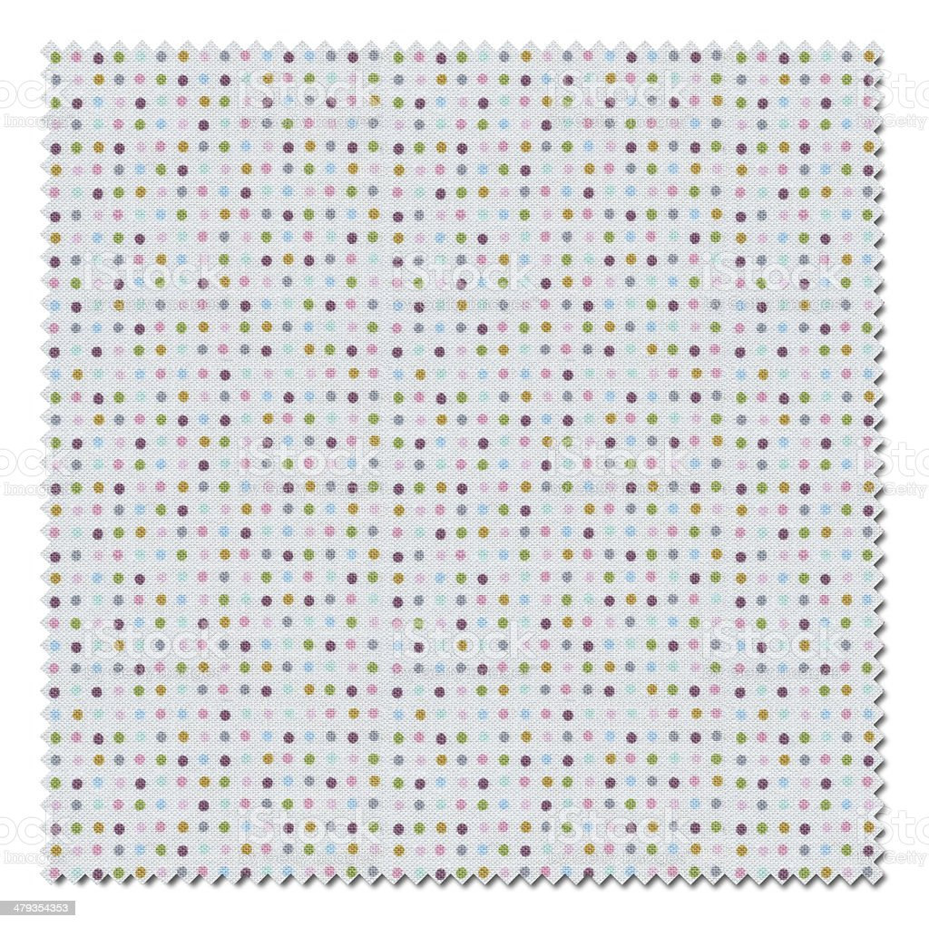 Colorful Dots Fabric Swatch royalty-free stock photo
