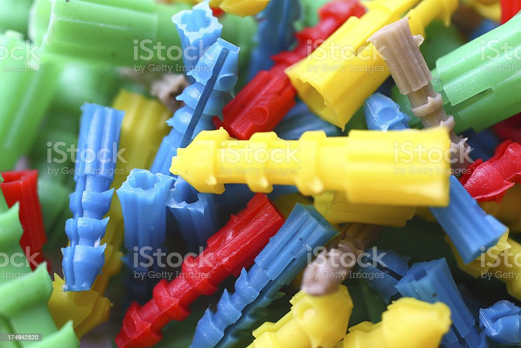 colorful dowel stock photo