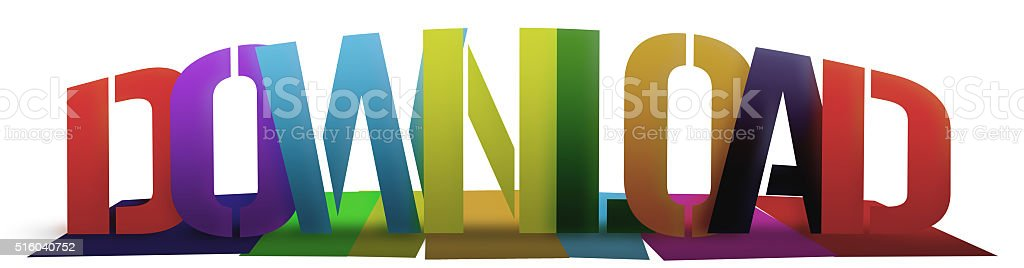 Colorful Download stock photo
