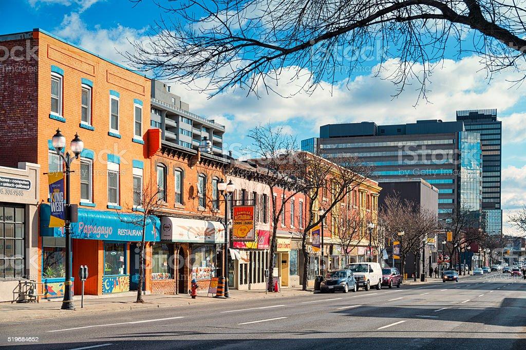 Colorful Downtown Hamilton Ontario Canada stock photo