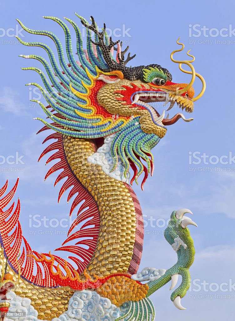 Colorful dragon. royalty-free stock photo