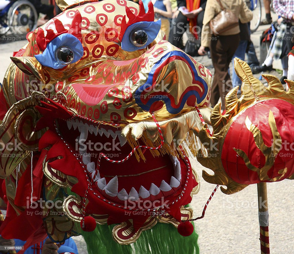colorful dragon-head royalty-free stock photo